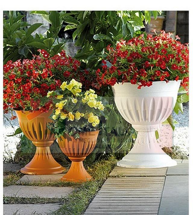 Alba calice d 33x35h bama bama032 ciotole e calici for Vasi da giardino in plastica
