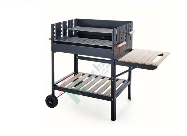 BARBECUE CON CARRELLO 765/7 CM.122X53X100