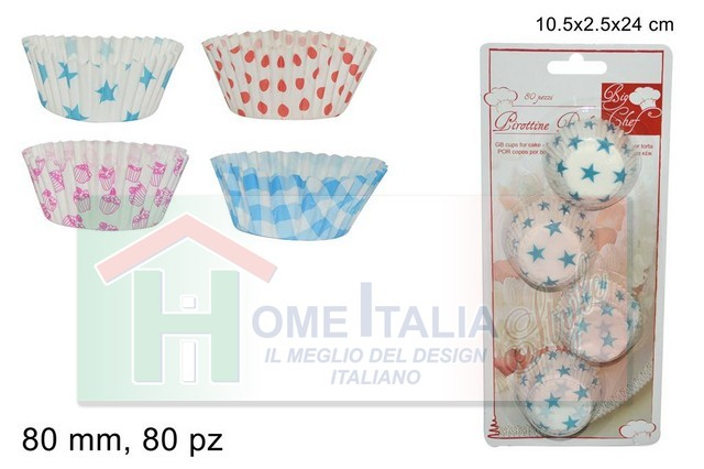 PIROTTINI DOLCI CARTA 80PZ MM.80