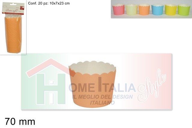 PIROTTINI MUFFIN CARTA TONDI D.7 20PZ 288542