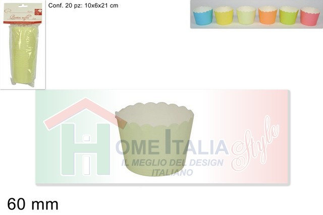 PIROTTINI MUFFIN CARTA TONDI D.6 20PZ 288559