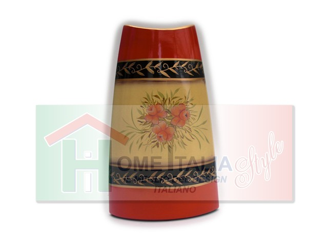 VASO CERAMICA FLOWERS ORANGE VC526