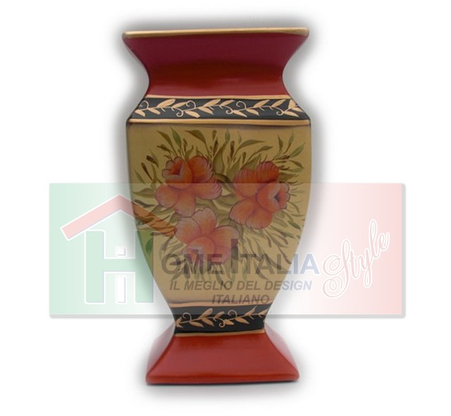 VASO CERAMICA FLOWERS ORANGE VC432