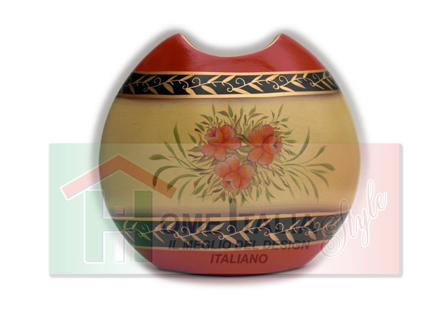 VASO CERAMICA FLOWERS ORANGE VC632