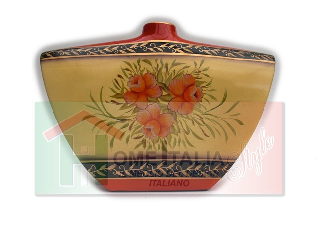 VASO CERAMICA FLOWERS ORANGE VC509