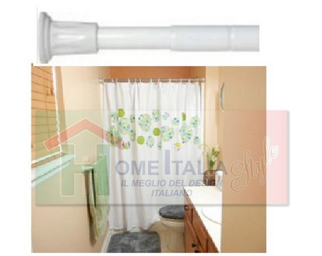 Bastone per tenda vasca estensibile cm 110x200 imj 1412 for Bastone reggitenda per doccia