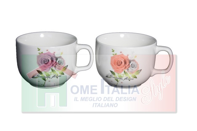*TAZZA LATTE 1103 ROMANTIC FLOWERS