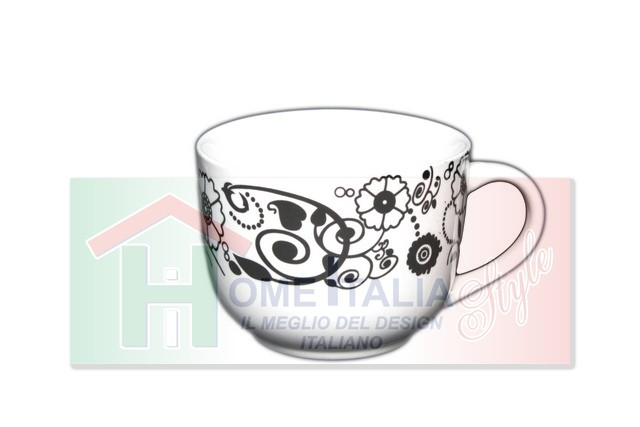 *TAZZA LATTE 92477 DEC.NERO