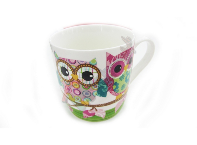 *TAZZA LATTE DECORO CIVETTA ART,1612616126-6