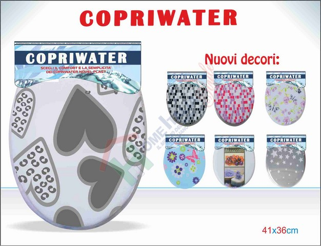 COPRIWATER MORBIDO DECORATO
