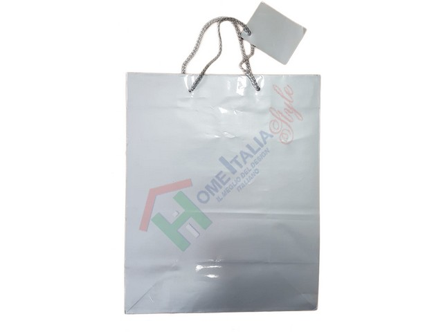 *SHOPPER CARTA ARGENTO 28X33X14