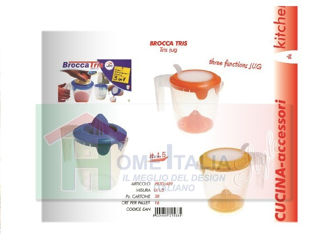 *BROCCA TRIS 3 IN 1 LEGA ART.0489